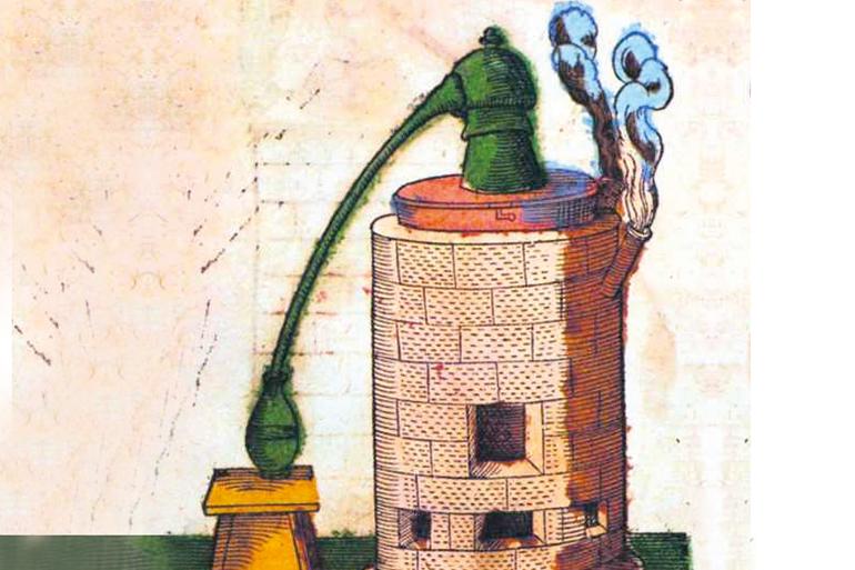 Dans la Genève du XVIe siècle: un bien mystérieux  alchimiste